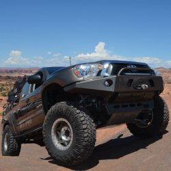 05-15 Toyota Tacoma APEX Steel Front Bumper with LED Hoop Black Powdercoat All Pro Off Road