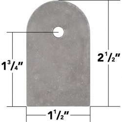 3/16 Inch Thick Weld On Flat Tabs 2.5 Inch 10 Pack Trail Gear