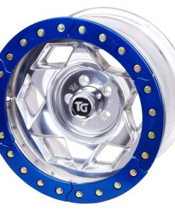 17x9 Inch Aluminum Beadlock Wheel 5 On 4.50 Inch W 3.75 Inch Back Space Red Segmented Ring Trail Gear