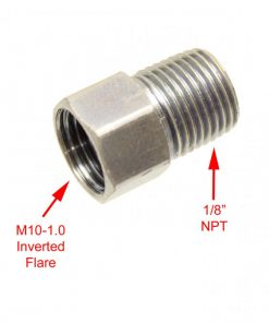 1/8 Inch NPT MALE to M10-1.0 Female Inverted Flare Adapter Low Range Offroad