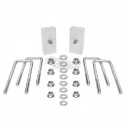 Tacoma 1 Inch CNC Block and OEM Metric Style U-bolt Kit 05 and Up Toyota Tacoma  Low Range Off Road