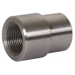Bung Threaded Tube Adapter 1 Inch-14 Right Hand X 1.5 Inch ID Tube Trail Gear